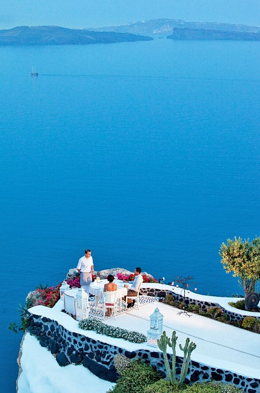 Santorini terrace for eloping couples