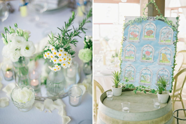 The decor was chosen to highlight the organic look of Capri