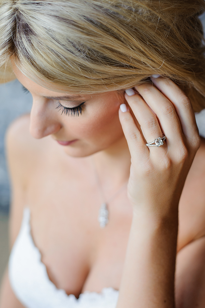 The engagement and wedding bands were made by the mother of the bride as she's a diamond broker