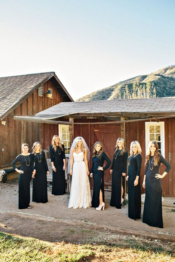 long sleeve black maxi dresses