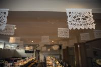 04 White paper picado was used to decorate the venue