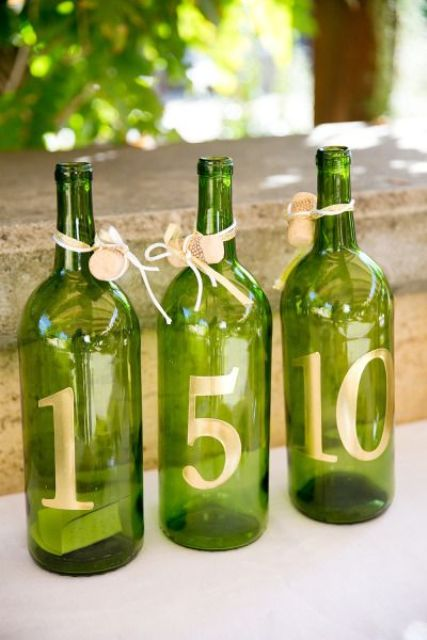 wine bottle table numbers to stencil yourself