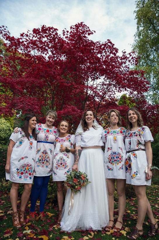 Mexican Inspired Wedding Dresses 2 Beautiful The bride was wearing