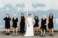 05 The bridesmaids were wearing black to make the bride in her ivory dress stand out