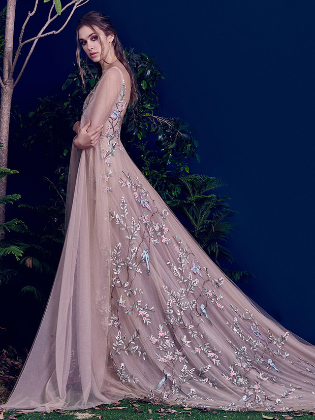 Blue And Purple Wedding Dress 50 Fancy Mauve wedding gown with