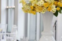 06 grey table with bold yellow florals and napkins