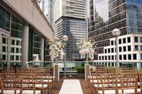 rooftop wedding aisle