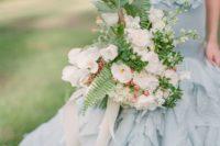 08 flowing ruffle blue wedding gown