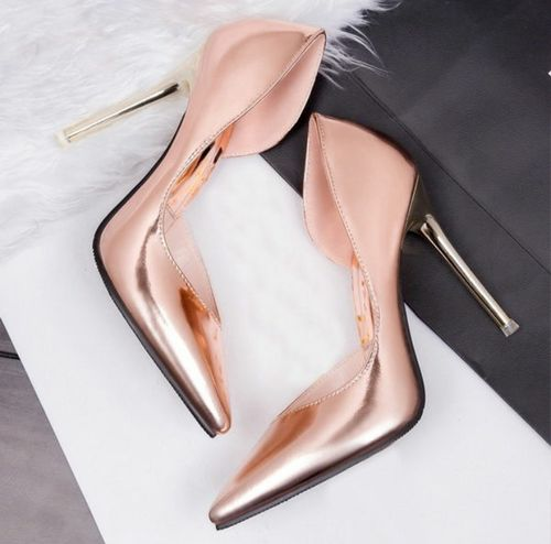metallic copper heels