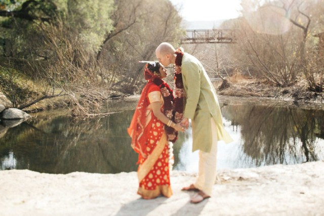 These are traditional Indian looks of the bride and groom