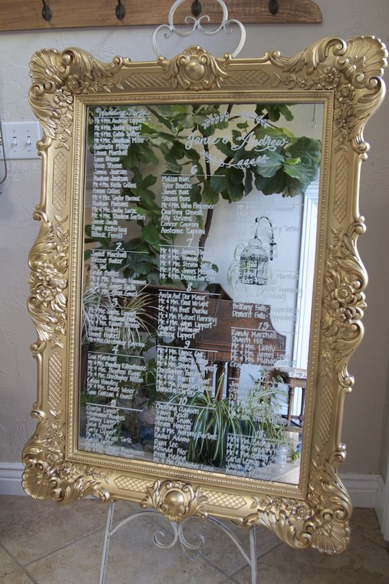 Picture Of Xl Ornate Gold Framed Mirror Seating Chart