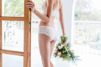 09 a white lace lingerie set will hint on your look on your big day
