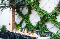 10 The florists created cool greenery decor