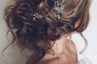 10 messy hair updo with a crystal headband