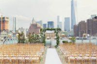 11 garden-inspired New York rooftop aisle