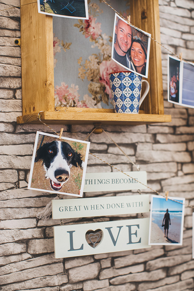 The decor was home-inspired, cozy and comforting, that's so unusual for a destination wedding