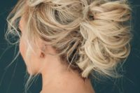 13 wedding updo for medium hair with no accessories