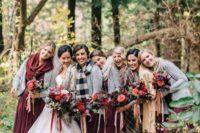 15 burgundy maxi dresses, grey cardigans and warm scarves