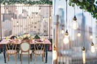 15 industrial rooftop weddidng decor