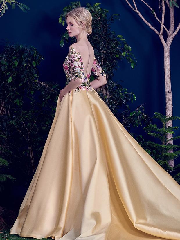 Plus Size Victorian Wedding Dresses 18 Elegant Pastel yellow skirt and