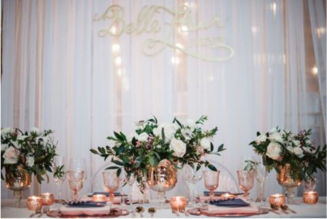 copper glasses and tableware will easily add style to your table setting