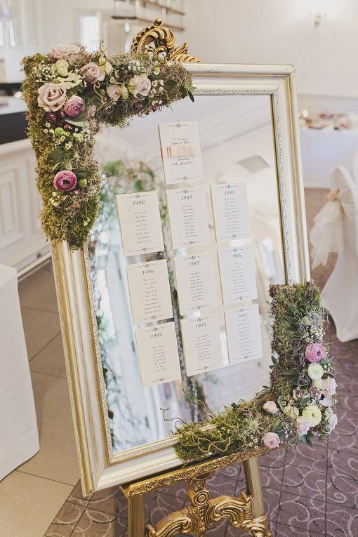 moss flower mirror decor looks whimsy and chic