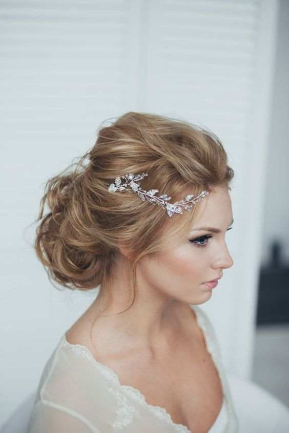 Trendy Chic Messy Wedding Hairstyles Weddingomania