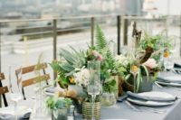 24 urban industrial rooftop wedding decor