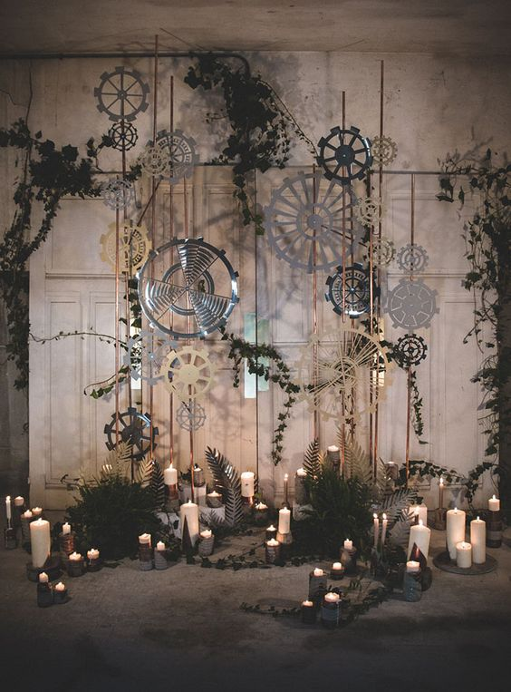 moody industrial wedding ceremony spot