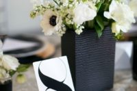 26 simple black and white table numbers is classics