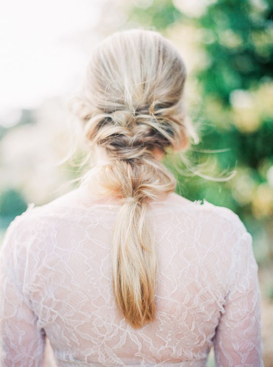 slightly undone bridal braid is great for beach and boho weddings