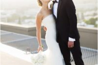 30 strapless glam mermaid wedding gown