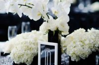 31 black and white framed table numbers look awesome in this table setting