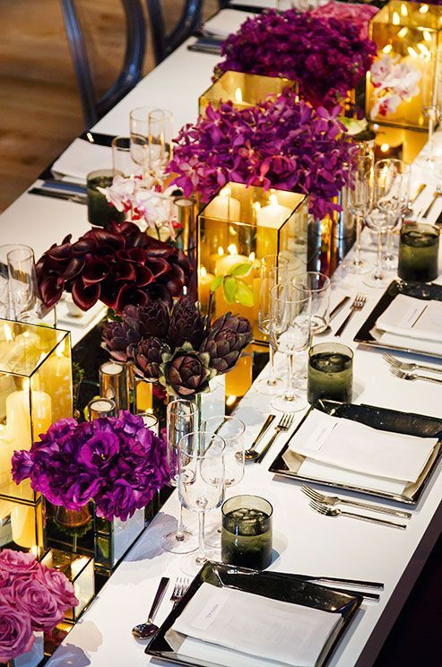 Mirror Table Runner And Vases For A Bold Tablescape