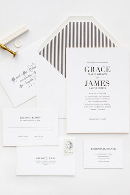 simple black and white invitations