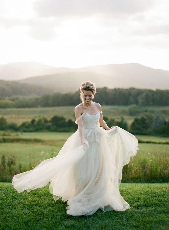 bride on a summer meadow