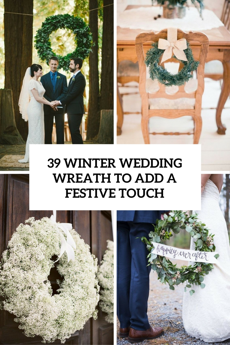 winter wedding wreaths to add a festive touch cover