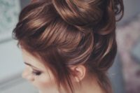 40 messy hair top knot for a wedding
