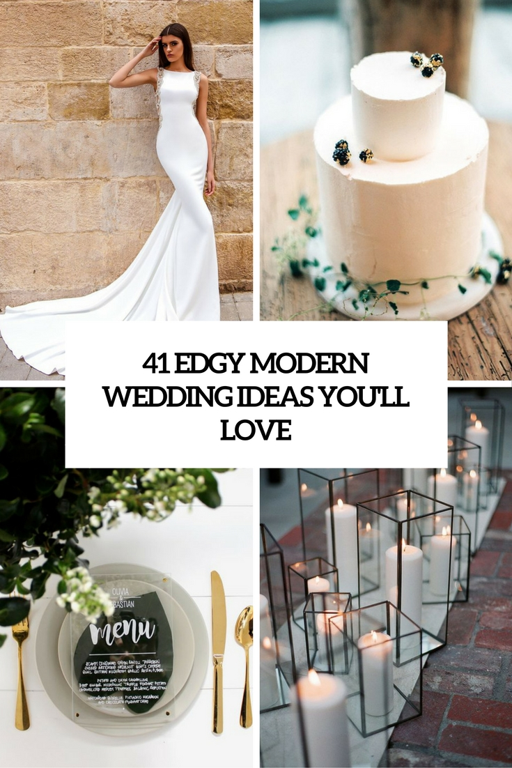 edgy modern wedding ideas youll love cover
