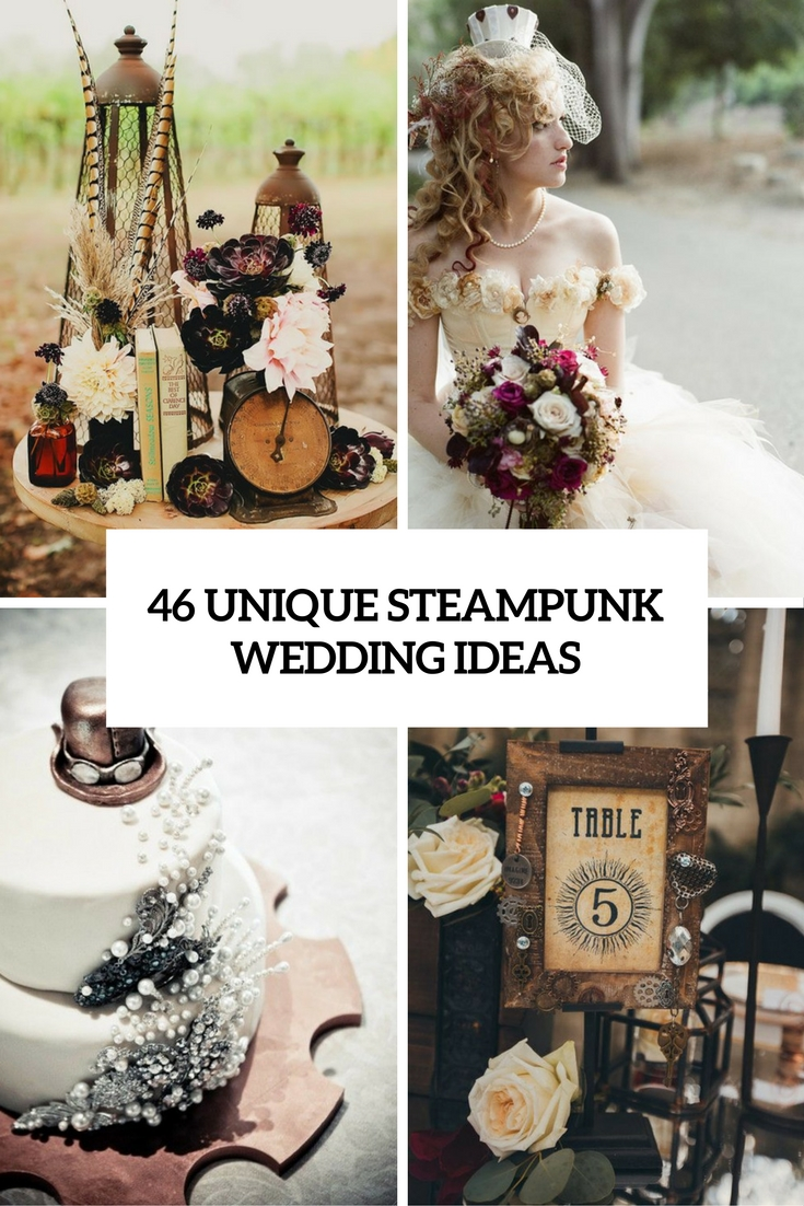 unique steampunk wedding ideas cover