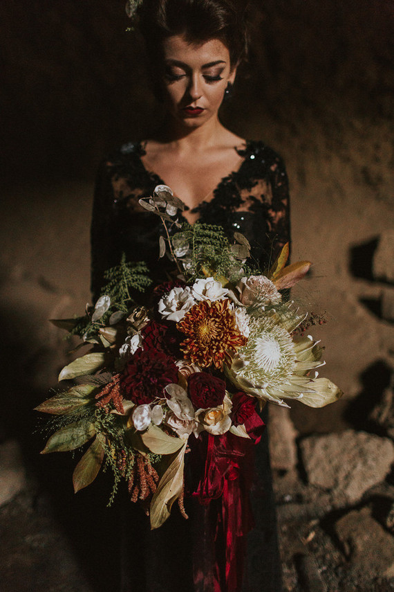 Enchanted Moody Halloween Wedding Shoot