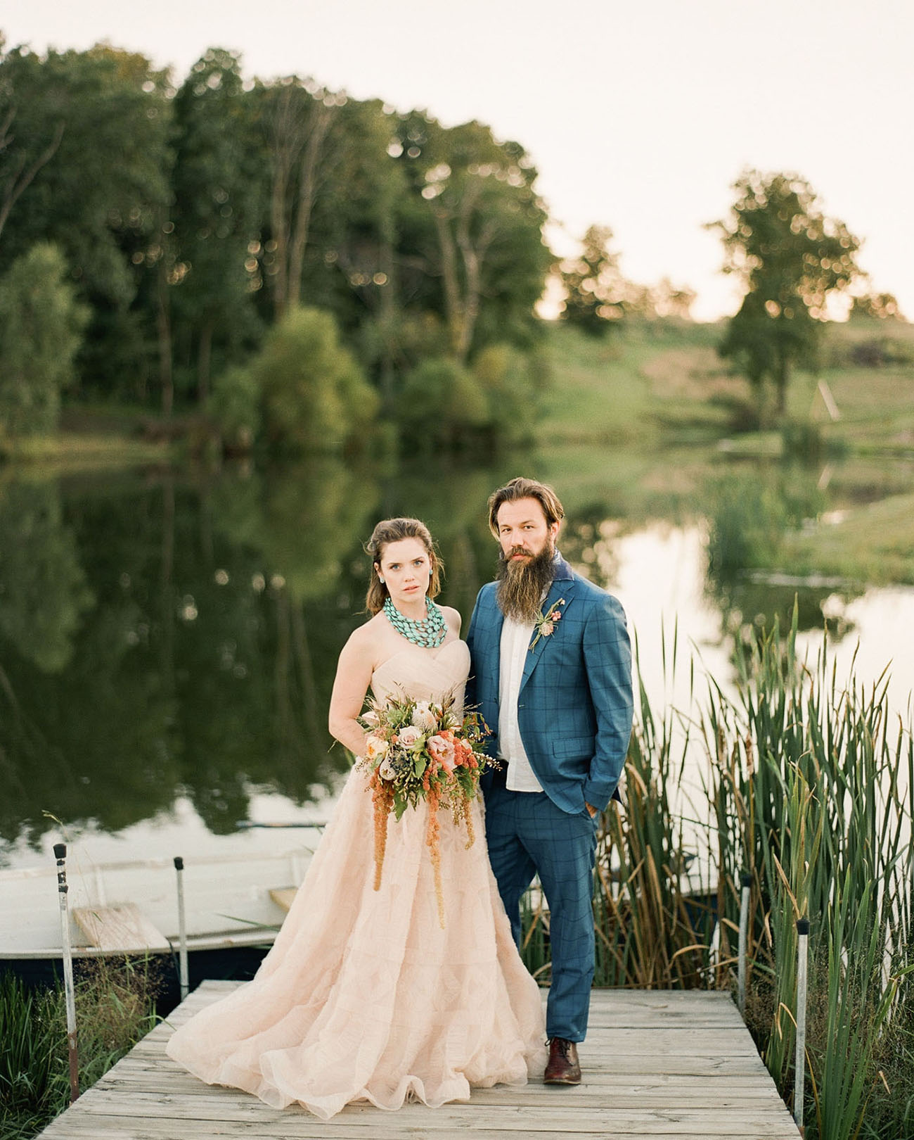 This southwest wedding inspirational shoot took place in Iowa and is full of charming details