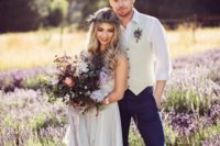 01 This whimsical wedding shoot was done in lavender fields, and it's a great source of inspiration for spring and summer weddings