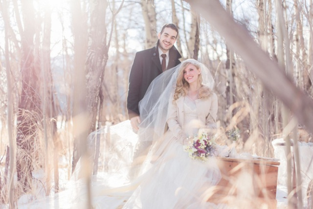 Picture Of This Winter Wedding Shoot Is Inspired By Wonderland And Looks Really Magical Fairy Tale Like
