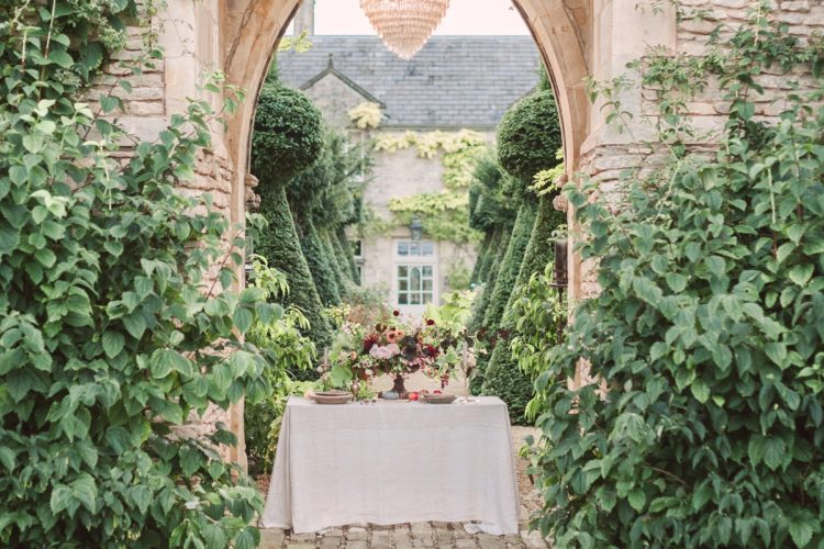 It took place in a lost orangery, which features manicured gardens and even a lake