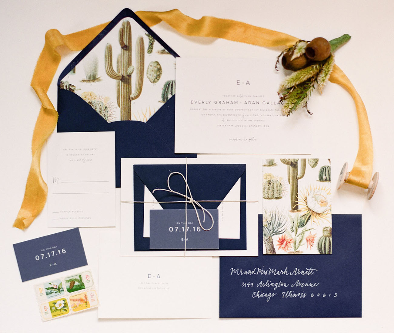succulents invitations