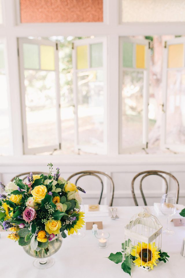 Colorful florals are amazing for creating an ambience