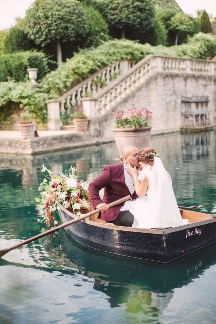 The couple enjoyed boating together