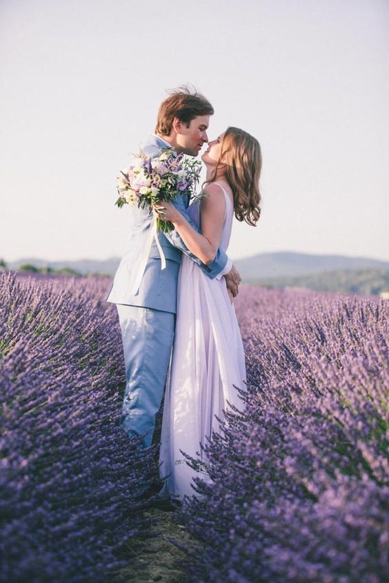 lavender fields are delicate and romantic for having your wedding