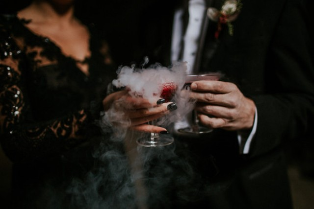 Just look at these smoking blood drinks, they scream Halloween